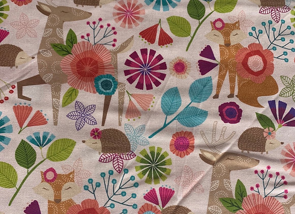 Forest Floric Animal 100% Cotton