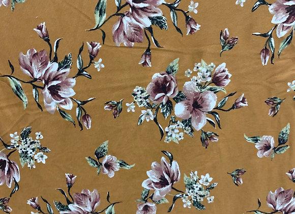 Tan Floral Lycra