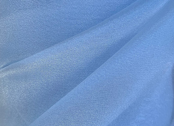 Baby Blue Sparkle Crystal Sheer Organza
