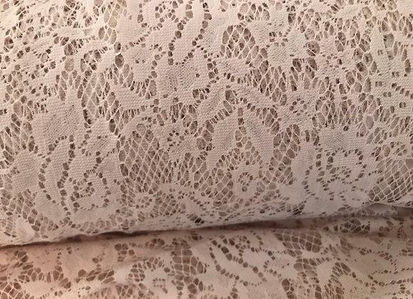 Beige floral lace stretch
