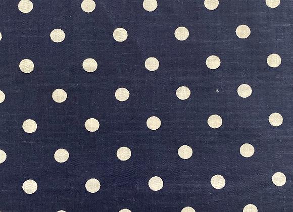 White polkadot on Navy blue
