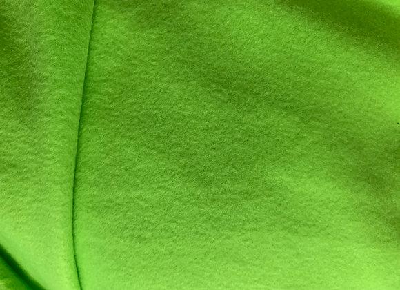 Neon Green Anti Pill Fleece Fabric Solids