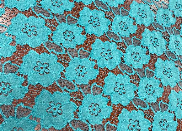 Blue green flower lace