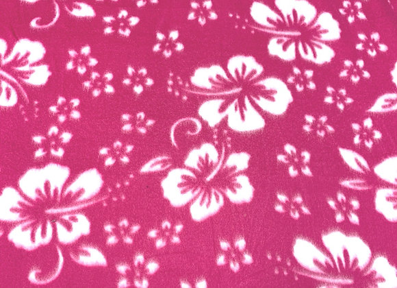 Double Brushed Hawaiian Hibiscus Fleece