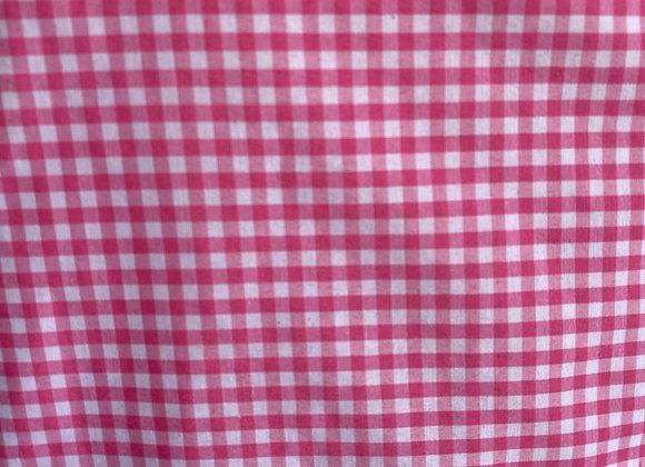 "Pink 1/8"" Gingham Cotton"