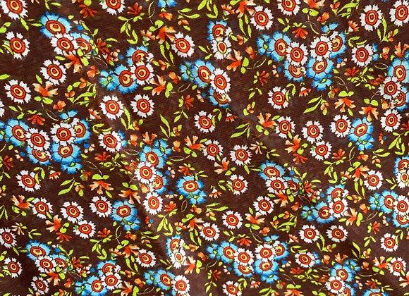 Small brown floral chiffon