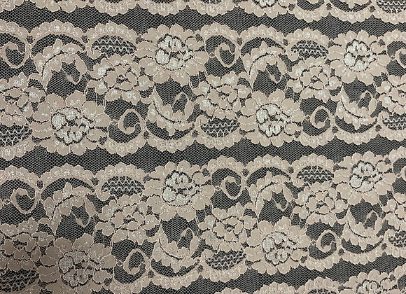Blush Lace & Spandex Fabric (One Yard & 1/2 available)