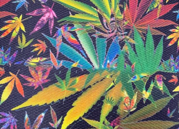 Knit Weed / marijuana leaf stretch