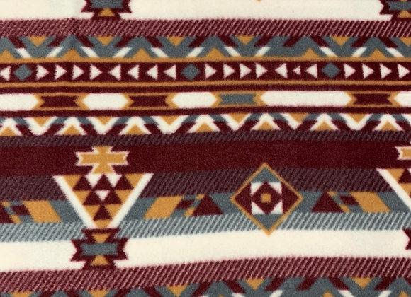 Double Brushed Tribal Print Fleece