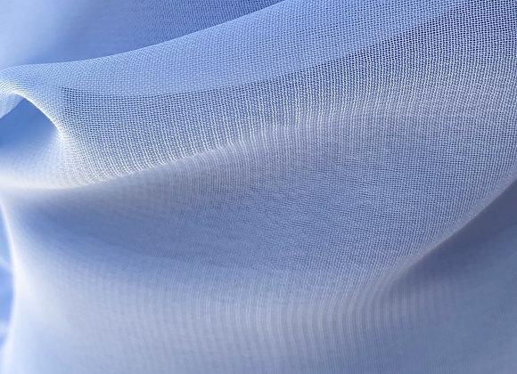 Baby Blue Chiffon Fabric