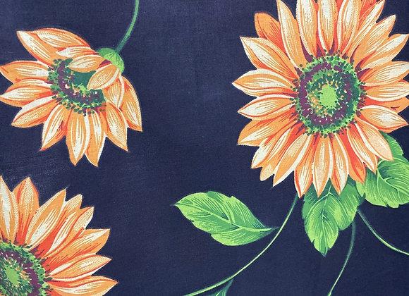Sunflower poly cotton print