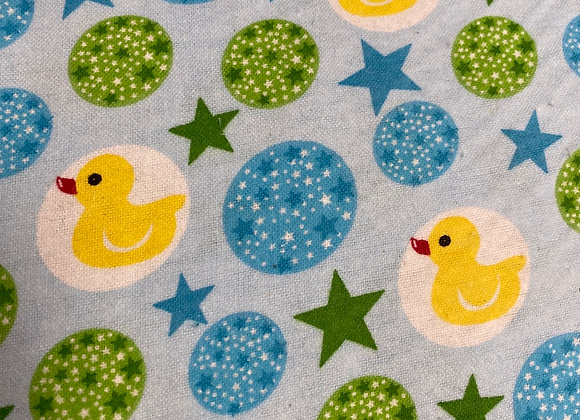 Duck Baby blue/ green 100% Cotton Flannel