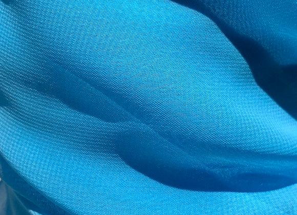 Aqua Chiffon Fabric