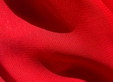 Red Chiffon Fabric