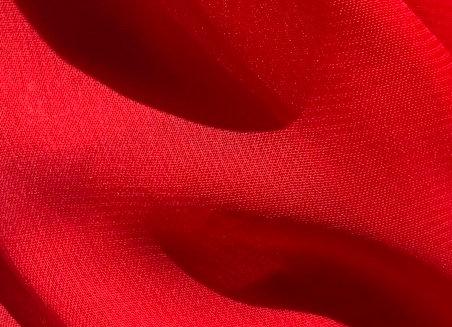 Red Chiffon Fabric