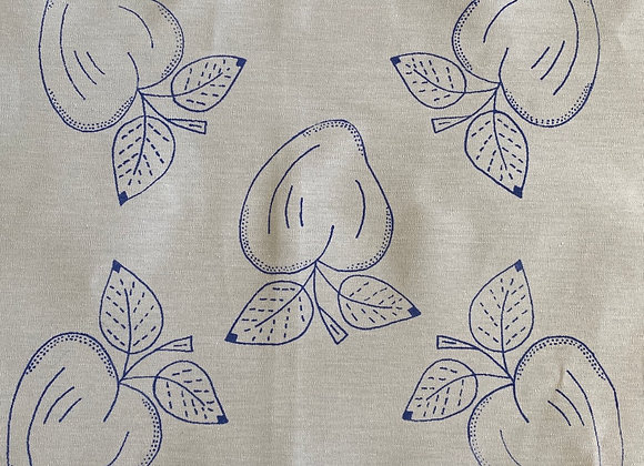 Pear embroidery cloth