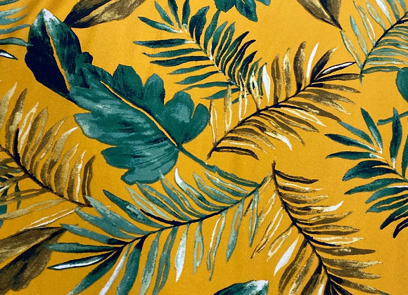 Yellow and green leaf print - Bolero two side brush