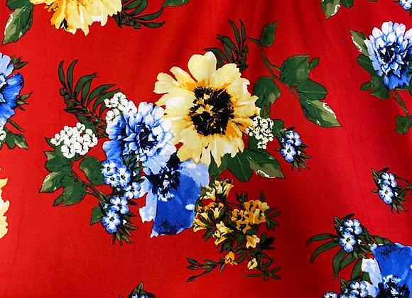 Sunflower on red- Bolero two side brush