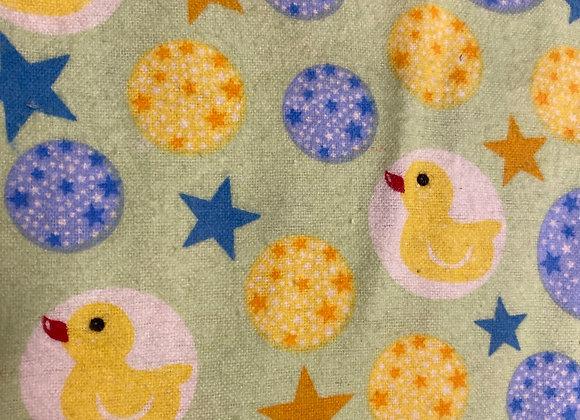Duck Baby green/blue 100% Cotton Flannel