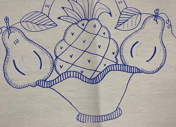 Fruit embroidery cloth
