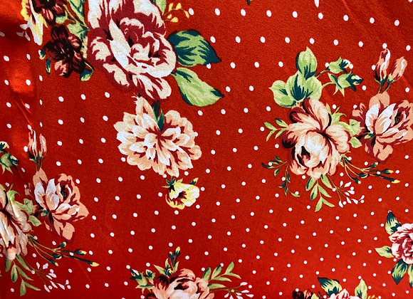 Red floral with polkadot - Bolero two side brush