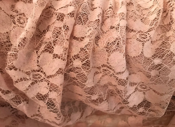 Blush floral lace stretch