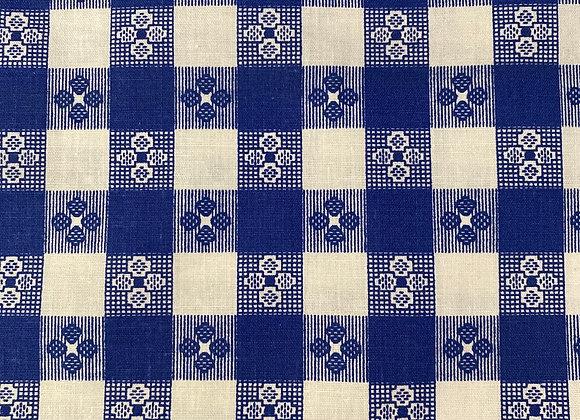 Blue and white plaid print