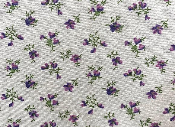 Purple & Lilac Flower Toss 100% Cotton