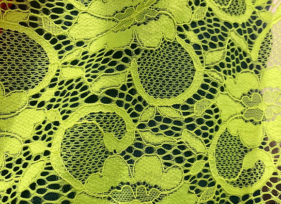 Neon yellow lace