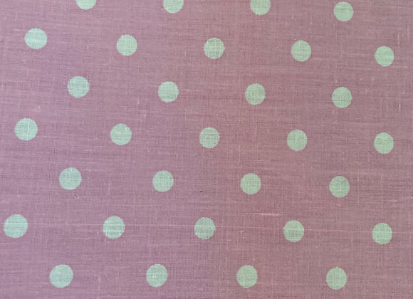 White polkadot on pink