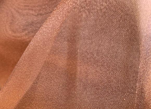 Brown Sparkle Crystal Sheer Organza