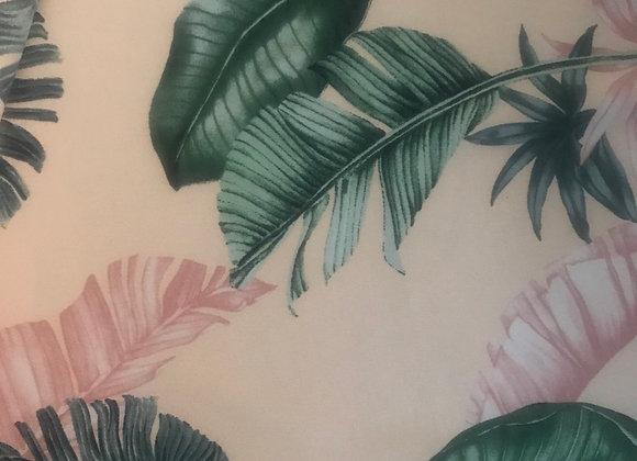 Leaf print Chiffon