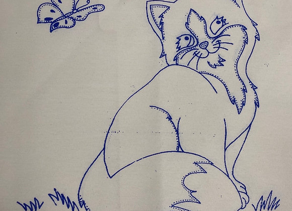Foxy embroidery cloth
