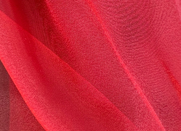 Red Sparkle Crystal Sheer Organza