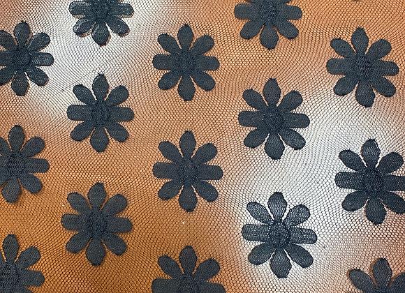 Black flower mesh