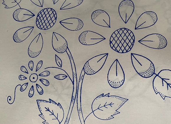 Flower embroidery cloth