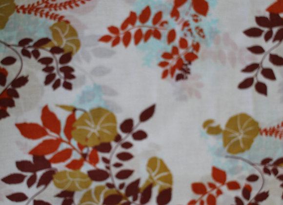 Autumn Orange and Brown Floral Print