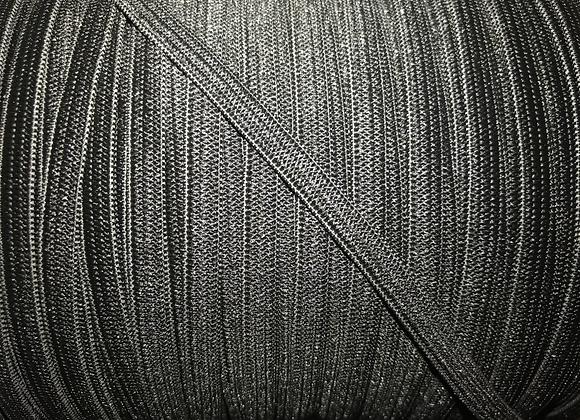 """Black 1/4"""" elastic"""
