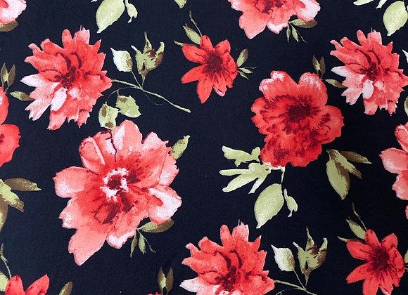 Black with roses - Bolero two side brush