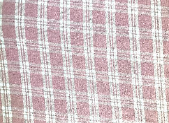 Pink Checkered 100% Cotton Flannel