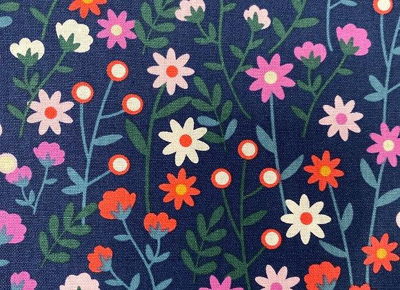 Perite Bloom Navy Cotton