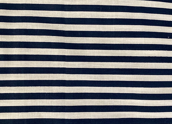 Navy blue stripes on white