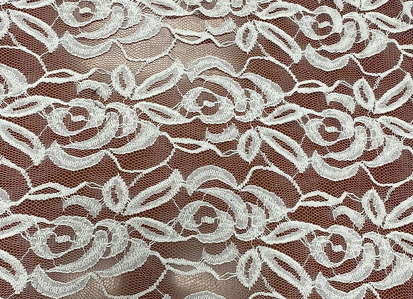 Rose Off White Lace
