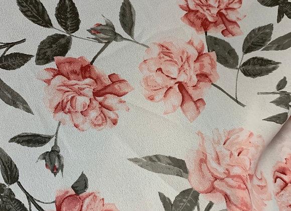 Blush Floral Chiffon