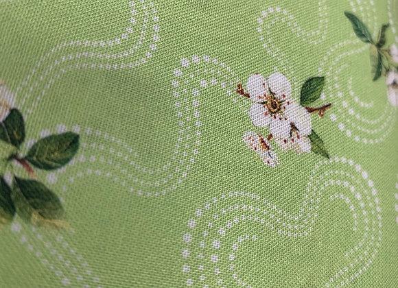 White Floral Trail 100% Cotton