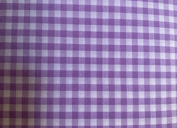"""Lilac 1/8"""" Gingham Cotton"""