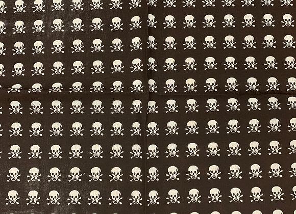 Black & White Skull 100% Cotton (21in x 21in)