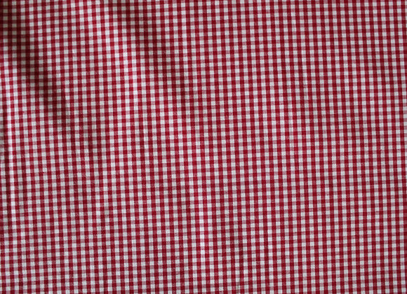 """Red 1/8"""" Gingham Poly Cotton"""