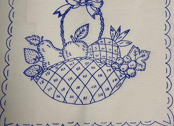 Fruit Basket embroidery cloth