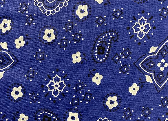 Blue bandana Cotton Print